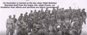 gilgit scouts in gilgit baltistan independence